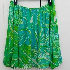 Lilly Pulitzer Enna Top Green Sheen Fronds Place